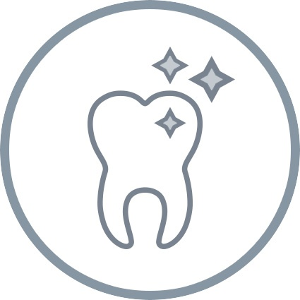 tooth icon with stars