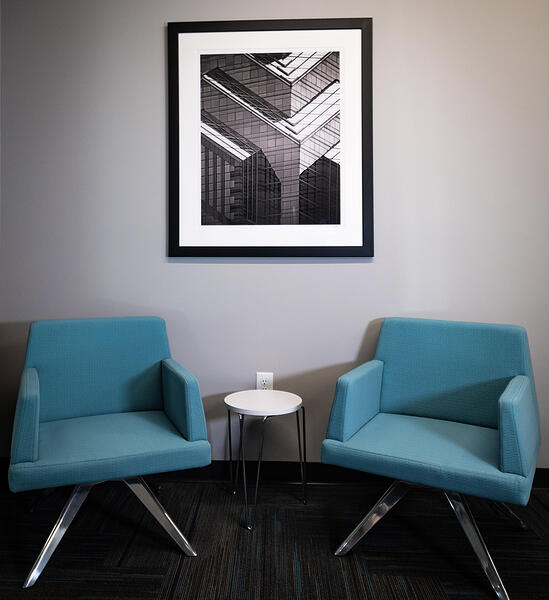Office chairs and picture